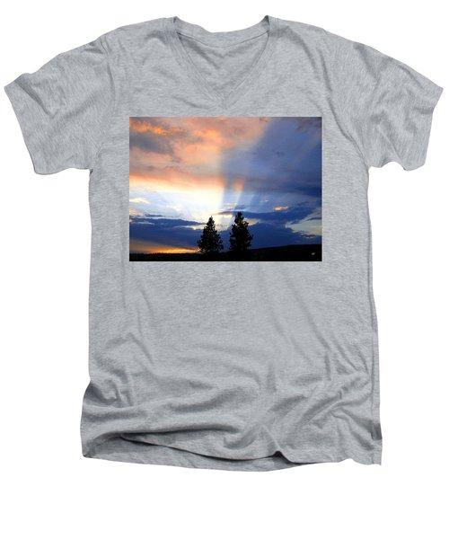 A Riveting Sky Men's V-Neck T-Shirt