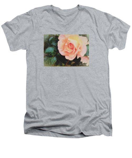 A Rose For Kathleen Men's V-Neck T-Shirt by Janice Rae Pariza
