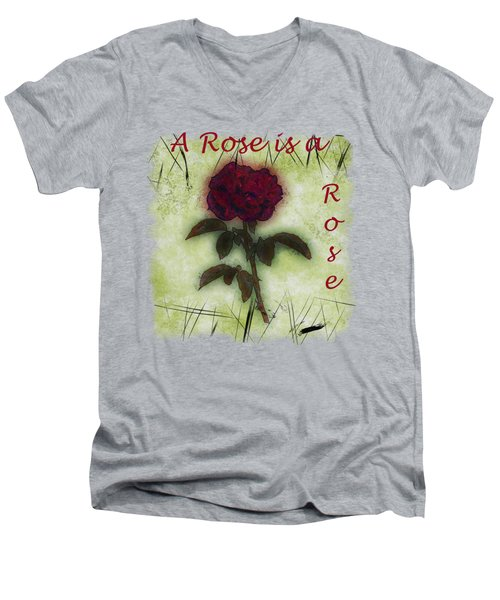 A Rose Men's V-Neck T-Shirt by John M Bailey