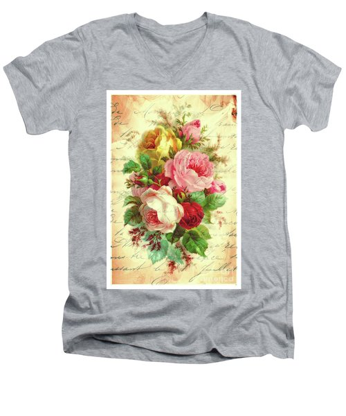 A Rose Speaks Of Love Men's V-Neck T-Shirt