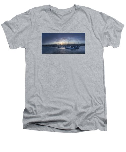 A Sailors Warning At Bangor Marina Men's V-Neck T-Shirt