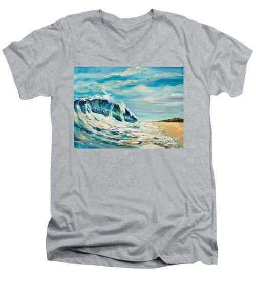 A Sandpiper's View Men's V-Neck T-Shirt