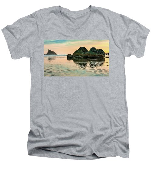 A Scene From The Beach Men's V-Neck T-Shirt