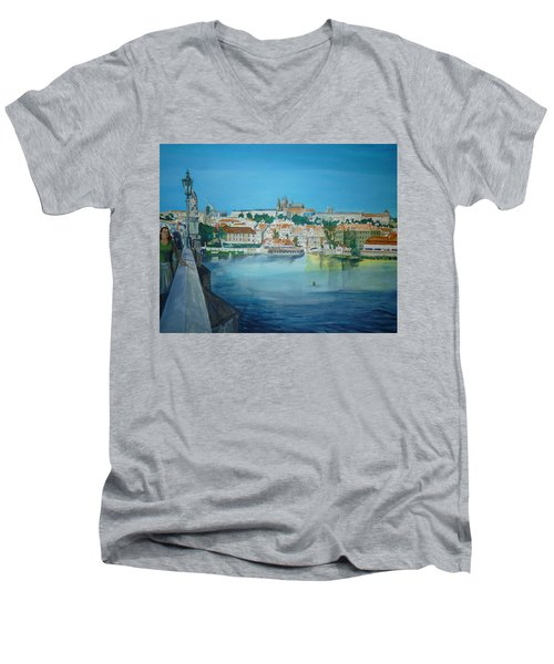 A Scene In Prague 3 Men's V-Neck T-Shirt
