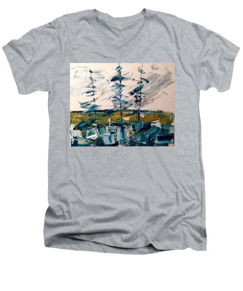 A Scrape Of Pines Men's V-Neck T-Shirt