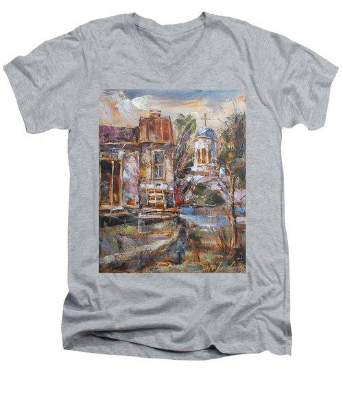A Silent Afternoon Men's V-Neck T-Shirt