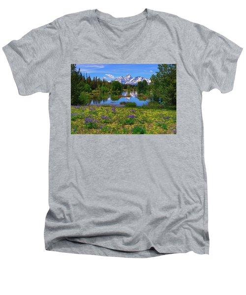 A Slice Of Heaven Men's V-Neck T-Shirt