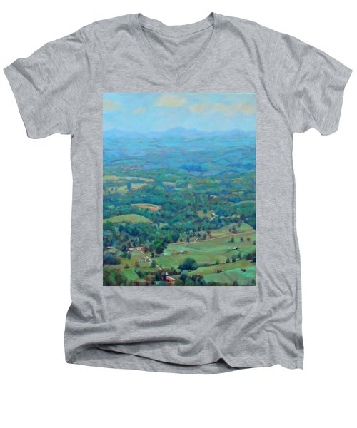 A Slow Summer's Day- View From Roanoke Mountain Men's V-Neck T-Shirt by Bonnie Mason