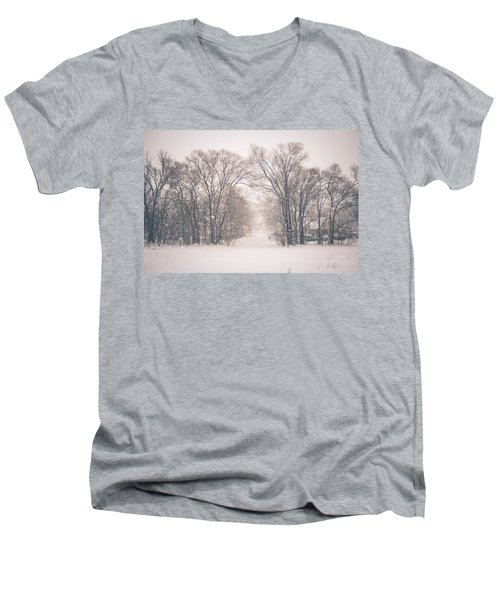 A Snowy Monday Men's V-Neck T-Shirt