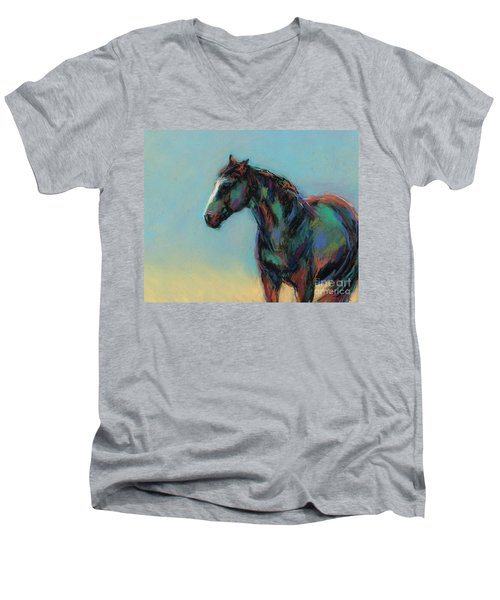 A Soft Breeze Men's V-Neck T-Shirt by Frances Marino