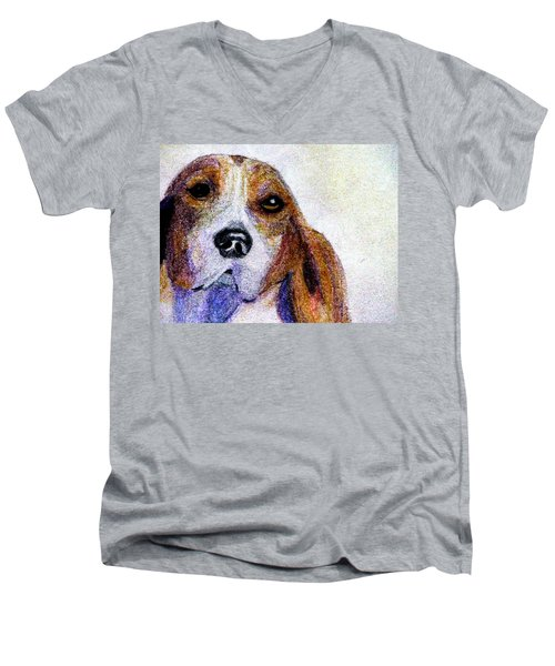 A Soulful Hound Men's V-Neck T-Shirt