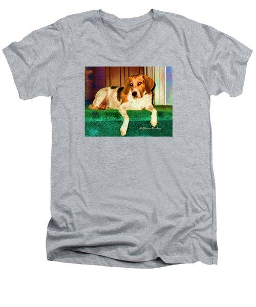 A Special Beagle Men's V-Neck T-Shirt