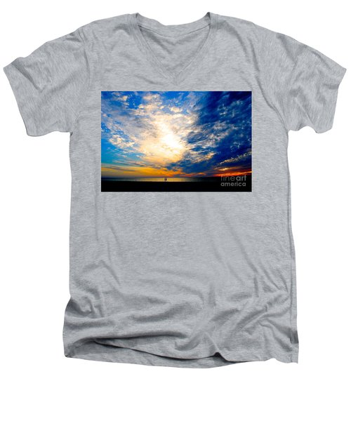 Men's V-Neck T-Shirt featuring the photograph A Speck In The Universe by Margie Amberge