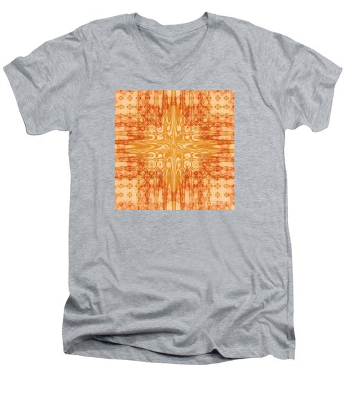 Men's V-Neck T-Shirt featuring the digital art A Splash Of Colors by Michelle H