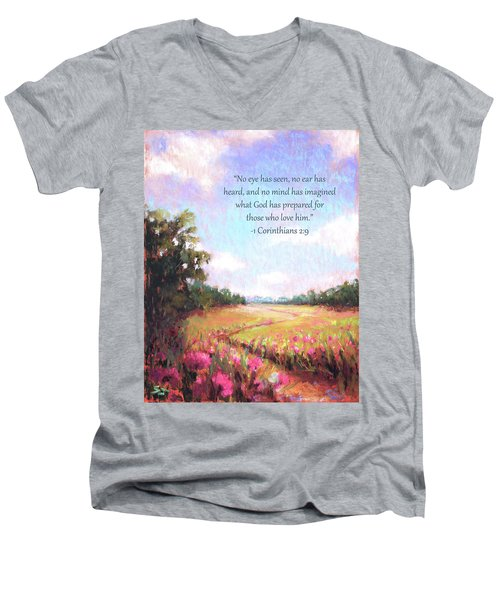 A Spring To Remember With Bible Verse Men's V-Neck T-Shirt