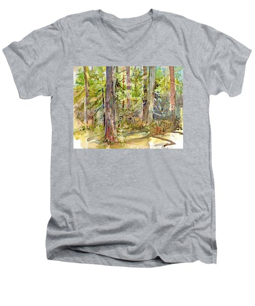 A Stand Of Trees Men's V-Neck T-Shirt