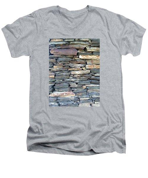 A Stone's Throw Men's V-Neck T-Shirt by Angela Annas