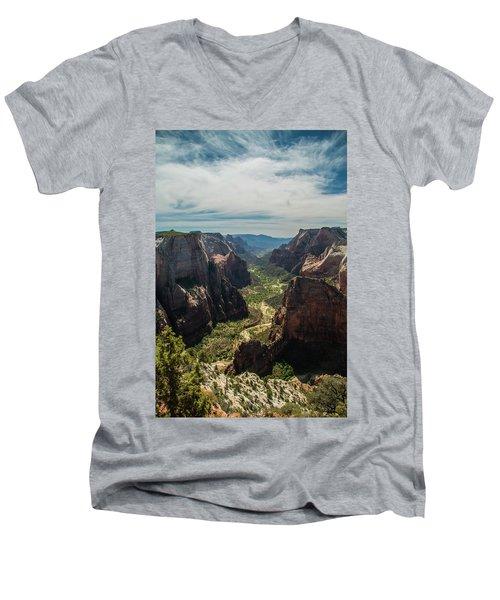A Storm Is A' Brewing Men's V-Neck T-Shirt