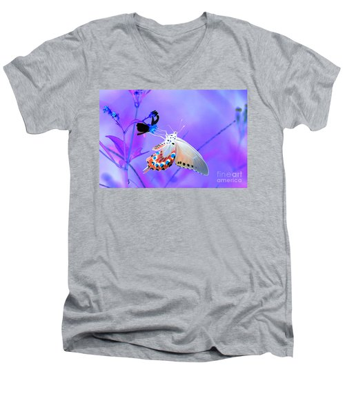 A Strange Butterfly Dream Men's V-Neck T-Shirt