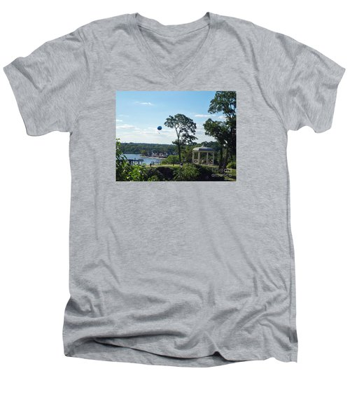 Men's V-Neck T-Shirt featuring the photograph A Summer Day by Lyric Lucas