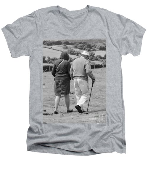 A Sunday Stroll In The Country Men's V-Neck T-Shirt by Linsey Williams