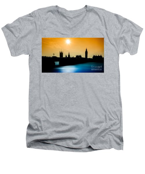 A Sunny Shape Men's V-Neck T-Shirt