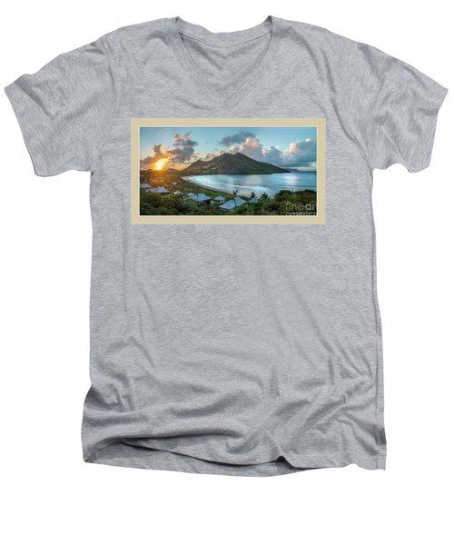 A Sunset On Bay Men's V-Neck T-Shirt
