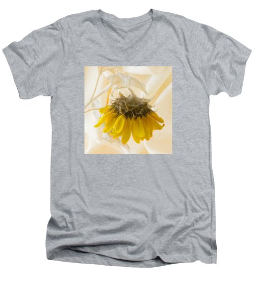 A Suspended Sunflower Men's V-Neck T-Shirt
