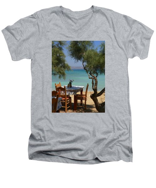 A Table Underneath The Welcoming Shade Men's V-Neck T-Shirt