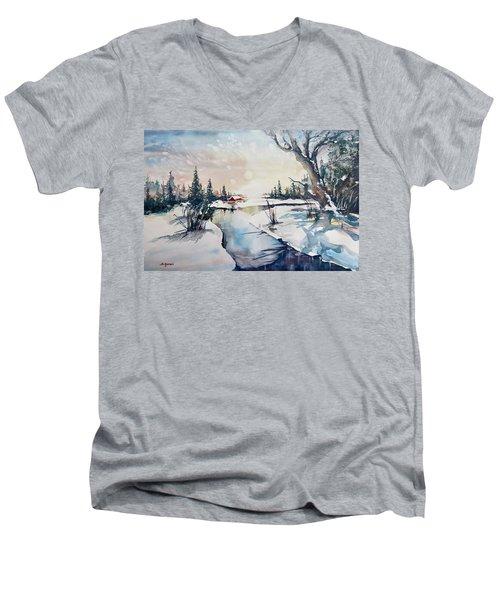 A Taste Of Winter Men's V-Neck T-Shirt