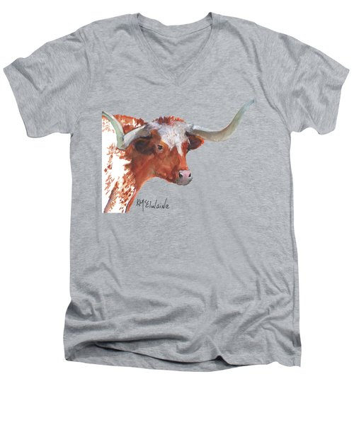 A Texas Longhorn Portrait Men's V-Neck T-Shirt