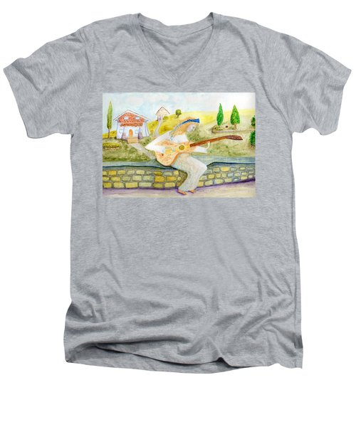 A Time For Music Men's V-Neck T-Shirt
