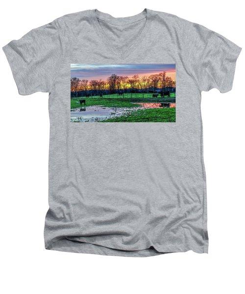 A Time For Reflection Men's V-Neck T-Shirt by Jeffrey Friedkin