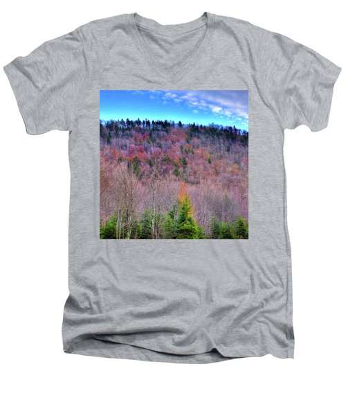 Men's V-Neck T-Shirt featuring the photograph A Touch Of Autumn by David Patterson