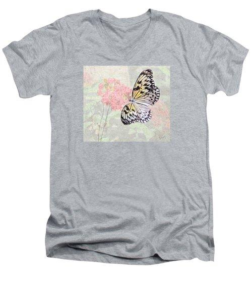 A Touch Of White Men's V-Neck T-Shirt by Rosalie Scanlon