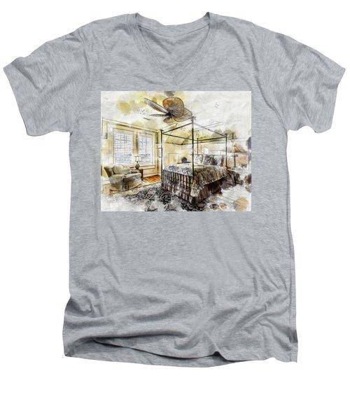A Traditional Bedroom Men's V-Neck T-Shirt