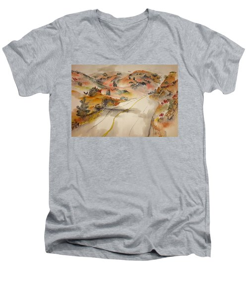 a trip to Lewistown  in Autumn  album Men's V-Neck T-Shirt