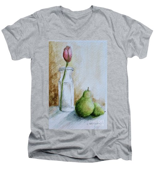 A Tulip And Two Pears Men's V-Neck T-Shirt