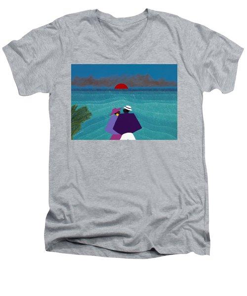 A Turks And Caicos Sunset Men's V-Neck T-Shirt