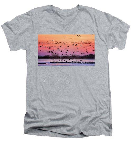 A Vibrant Evening Men's V-Neck T-Shirt