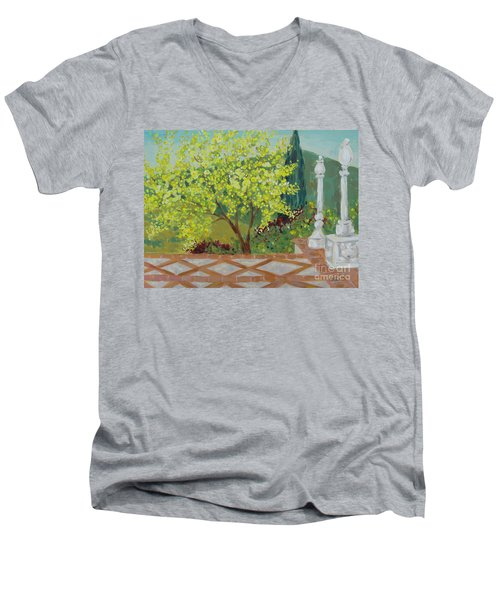 A View From Hearst Castle Men's V-Neck T-Shirt