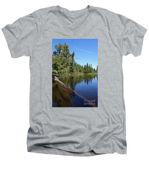 Men's V-Neck T-Shirt featuring the photograph A View From My Kayak by Sandra Updyke