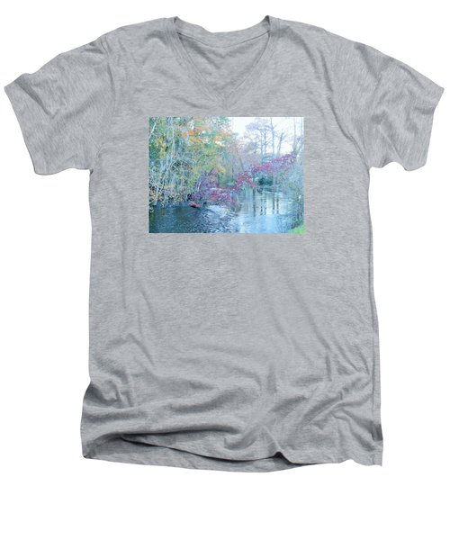 Men's V-Neck T-Shirt featuring the photograph A View Of Autumn by Kay Gilley