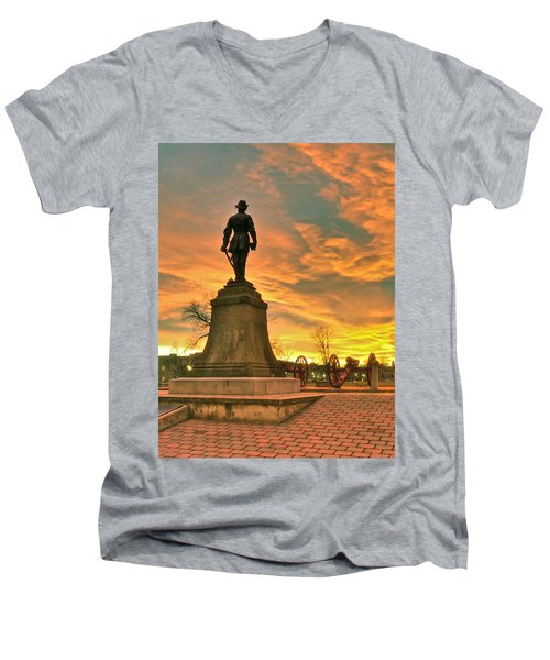 A Vmi Sunset Men's V-Neck T-Shirt