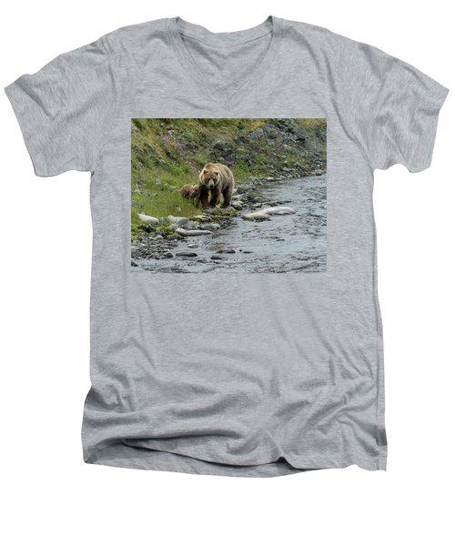 A Walk Along The Creek Men's V-Neck T-Shirt