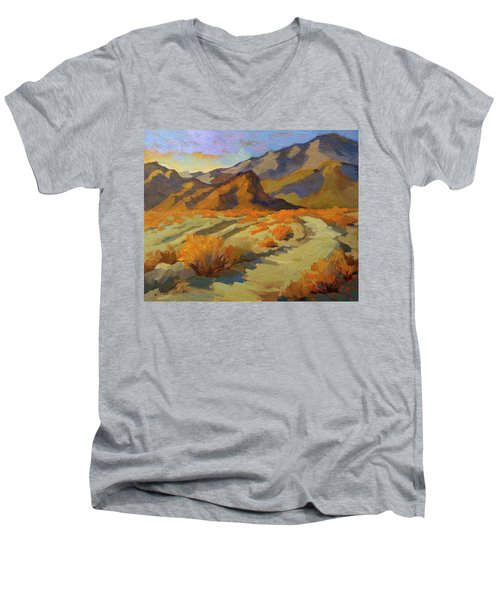 A Walk In La Quinta Cove Men's V-Neck T-Shirt by Diane McClary