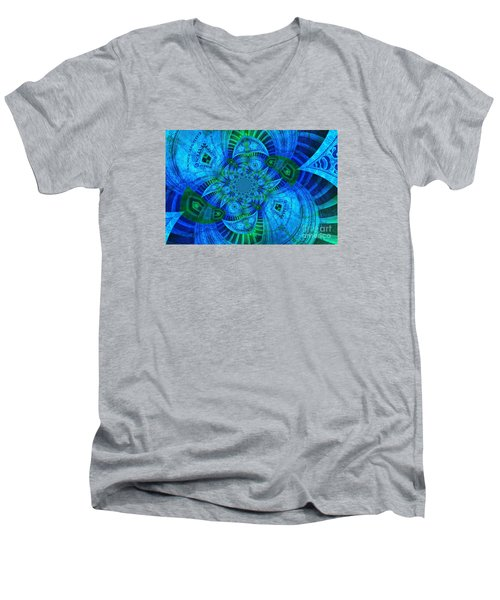 A Walk In The Gallery Men's V-Neck T-Shirt by Chad and Stacey Hall