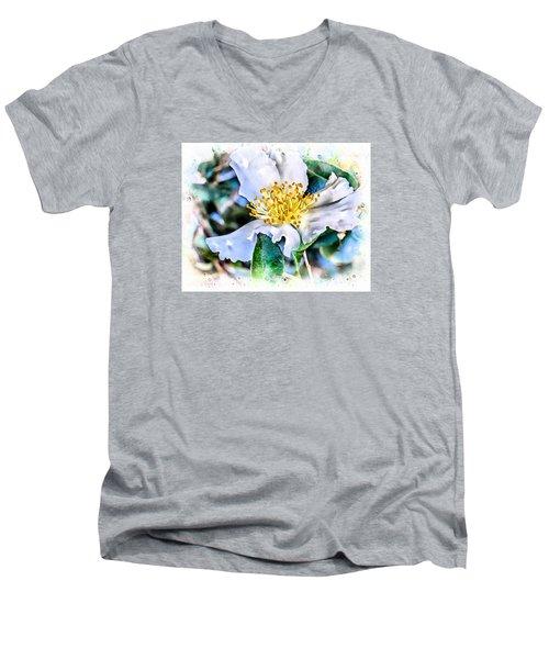 A Walk In The Garden Men's V-Neck T-Shirt