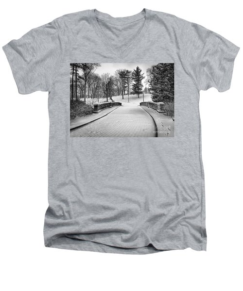 A Walk In The Snow Men's V-Neck T-Shirt