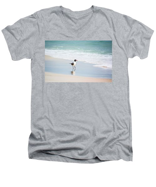 A Walk On The Beach Men's V-Neck T-Shirt by Shelby  Young